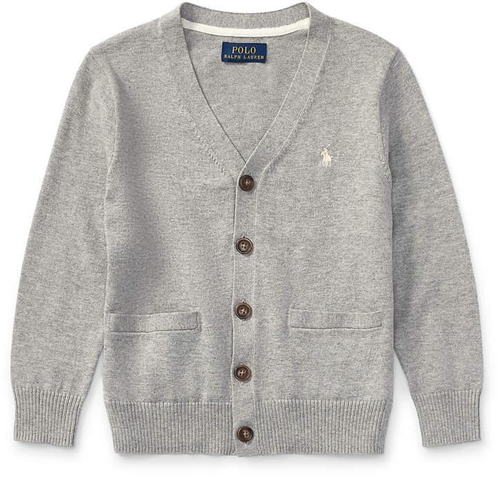 Cotton V-Neck Cardigan