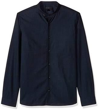 John Varvatos Men's L/S Extended Collar TAB Shirt