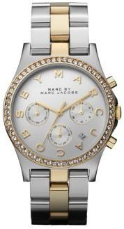 Marc by Marc Jacobs Henry Glitz Two-Tone Stainless Steel Chronograph Watch $275 thestylecure.com