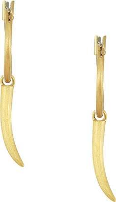 Rebecca Minkoff Women's Golden Horn Mini Hoop Earrings