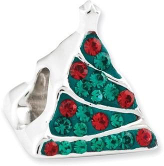 Prerogatives Sterling Crystal Christmas Tree Bead