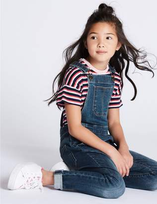 Marks and Spencer Cotton Dungarees with Stretch (3-16 Years)