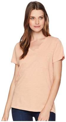 Pendleton V-Neck Pocket Cotton Tee Women's T Shirt