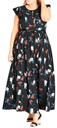 City Chic Spring Garden Maxi Dress