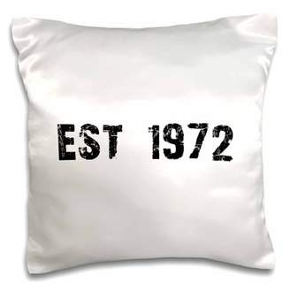 3dRose Grunge Est Established in 1972 - Seventies Baby Born Child of the 70s - Personal custom birth year - Pillow Case, 16 by 16-inch