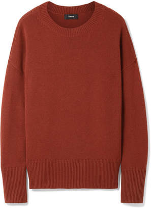 Theory Karenia Cashmere Sweater - Brick