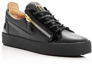 Giuseppe Zanotti Men's Leather Lace Up Sneakers