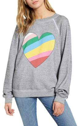 Wildfox Couture Sommers Love Hearts Sweatshirt