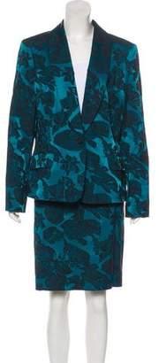 Albert Nipon Metallic Knee-Length Skirt Suit