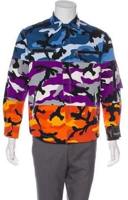 Valentino Camouflage Shuffle Shirt Jacket