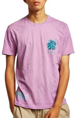 Topman Sundays Marbled T-Shirt
