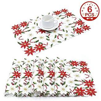 AerWo Christmas Holiday Placemats Set of 6