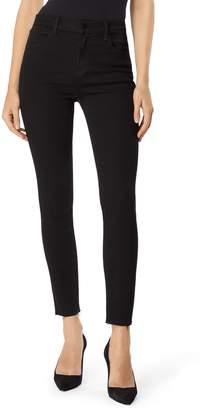 J Brand Alana High Waist Raw Hem Ankle Skinny Jeans