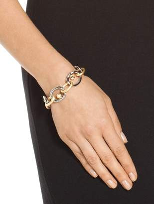 St. John Swarovski Crystal & Metal Chain Link Bracelet