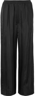 Marc Jacobs Striped Satin-jacquard Pants - Black