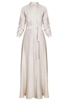 UNDRESS - Demure Cream Maxi Shirt Christening Dress