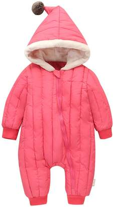 Mengxiaoya Baby's Winter Down Coats Jumpsuit Romper Warm Bunting Bag Hoodie Zip-up