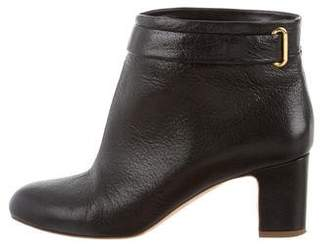 Rupert Sanderson Leather Round-Toe Ankle Boots