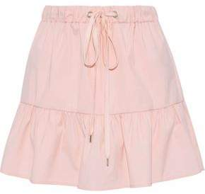 RED Valentino Ruffled Cotton-Blend Poplin Mini Skirt