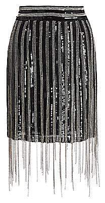 Amen Women's Fringe Mini Skirt