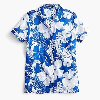 J.Crew Short-sleeve pajama top in blue floral