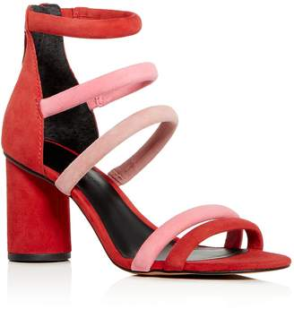 Rebecca Minkoff Women's Andree Suede Color-Block Ankle Strap High-Heel Sandals
