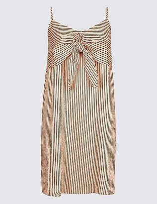 Limited Edition Striped Knot Front Vest Dress