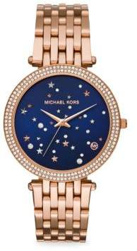 Michael Kors Rose-Gold Stainless Steel Bracelet Watch