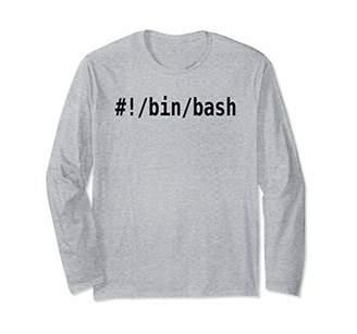 BA&SH bin bash Long Sleeve Shirt for Command Line Hackers & Geeks
