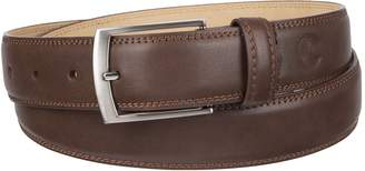 Weatherproof Men's Adjustable Comfort Fit Trackless Slide Belt, Brown/Gunmetal Buckle