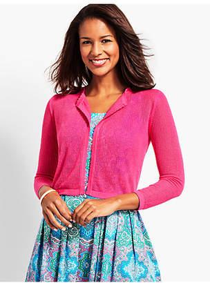 Talbots Open-Stitch Dress Shrug