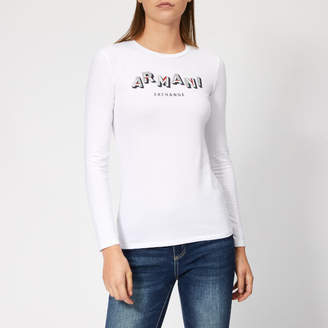 Armani Exchange Women's Long Sleeve Logo T-Shirt
