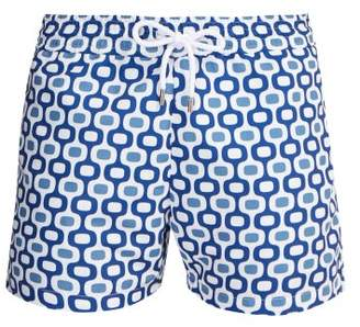 Frescobol Carioca - Sports Ipanema Print Swim Shorts - Mens - Blue Multi