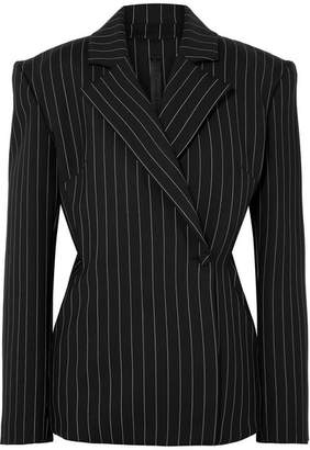 Gareth Pugh Pinstriped Wool-blend Blazer - Black
