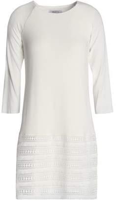 Bailey 44 Guipure Lace-Paneled Stretch-Jersey Mini Dress