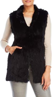 Love Token Alexa Longline Real Fur Vest