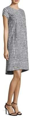 Peserico Short-Sleeve Tile-Print Dress