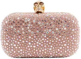 Alexander McQueen Pink Suede Clutch Bag