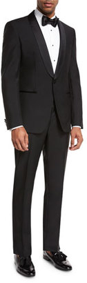BOSS Satin-Collar Two-Piece Tuxedo, Black $1,095 thestylecure.com