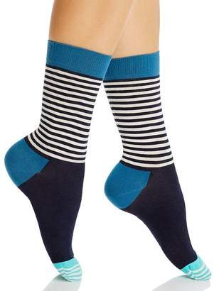 Happy Socks Ladies Half Stripe Sock