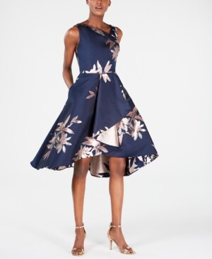 Adrianna Papell Jacquard Fit & Flare Dress