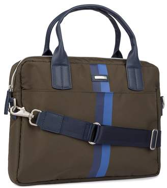 Accent Stripe Detail Documents Bag
