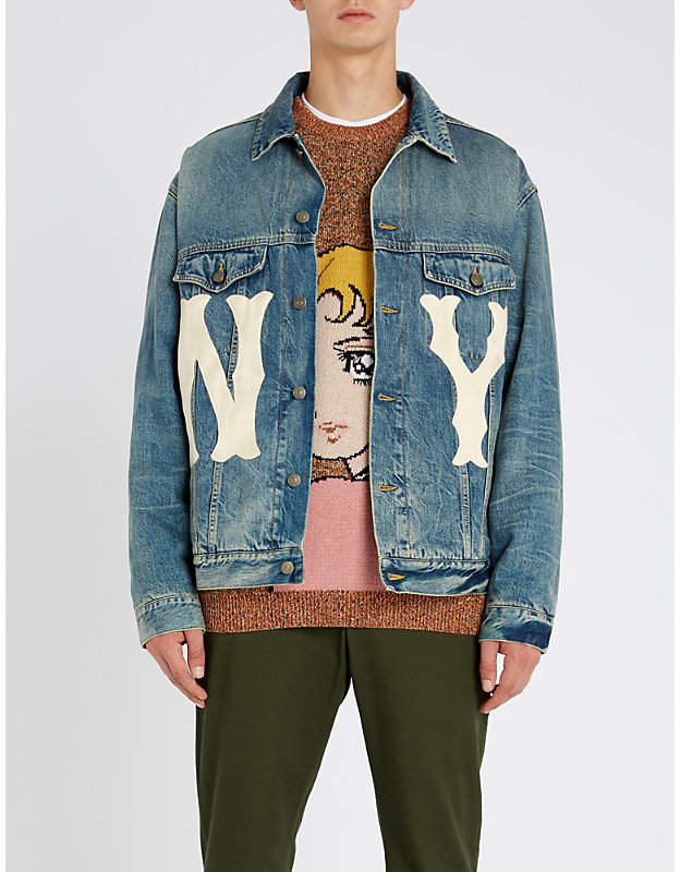Gucci NY YankeesTM patch denim jacket