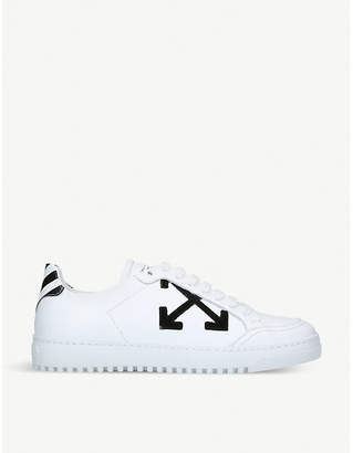 Off-White Arrow leather trainers
