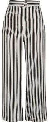 River IslandRiver Island Womens Black stripe print wide leg trousers