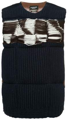 Calvin Klein quilted jacquard padded jumper