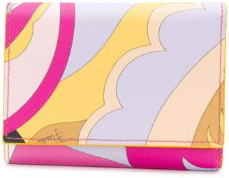 Emilio Pucci Pink Acapulco Print Tri-fold Wallet