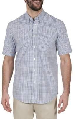Haggar Short Sleeve Multi Plaid Shirt