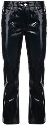 RtA lambskin cropped trousers