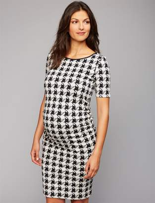 Isabella Oliver Pea Collection Houndstooth Maternity Dress
